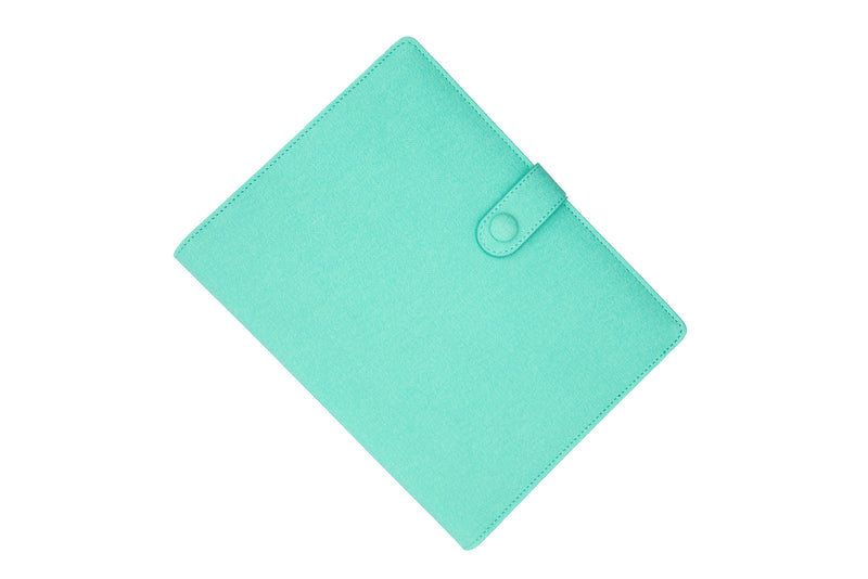 PU Leather PowerBank Notebook Crystal Green