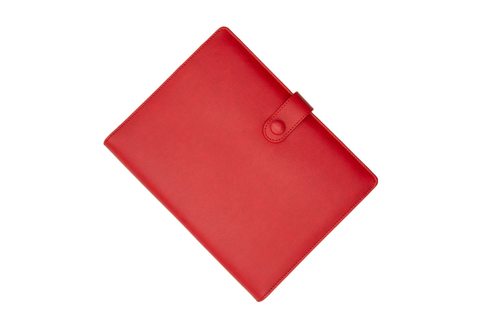 PU Leather PowerBank Notebook Red