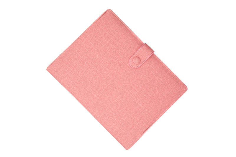 PU Leather PowerBank Notebook Lady Pink