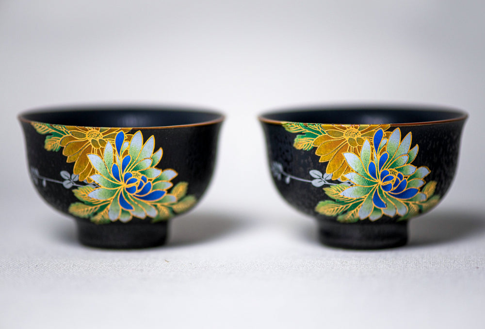 Black Glazed Tea Cups
