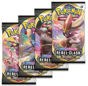 Pokemon Booster - Sword and Shield Rebel Clash- 3 Packs
