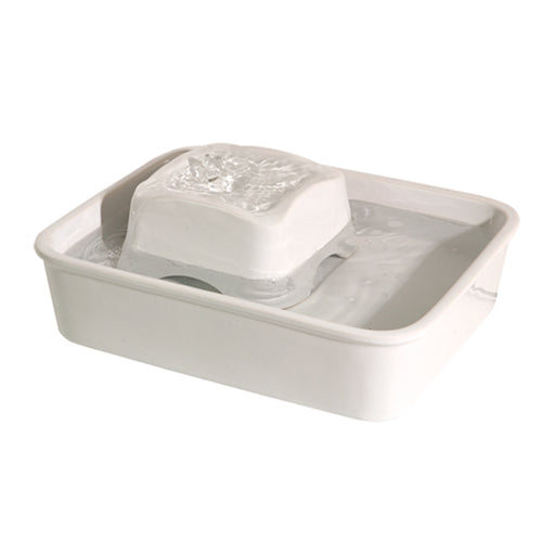 Pioneer Pet - Drinking Fountain - Ceramic - Peaceful Waters - White - 128OZ - PetProject.HK