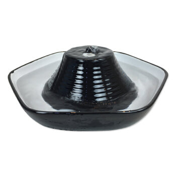 Pioneer Pet - Drinking Fountain - Ceramic - Hexoagonal - Black - 60OZ - PetProject.HK