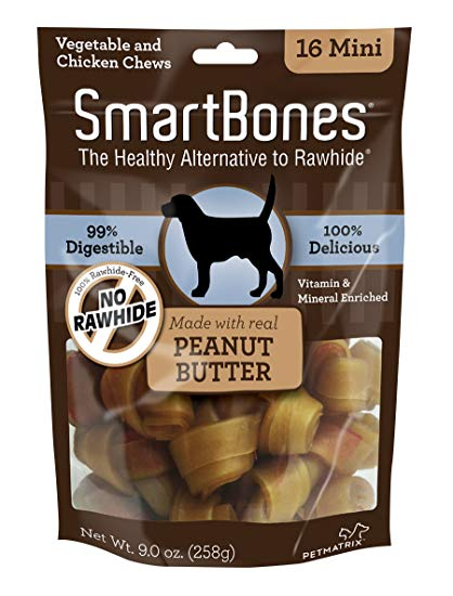 Smartbone - Peanut Butter Flavor - Mini (258g -  16 Pieces) - PetProject.HK