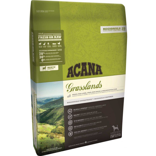 Acana - Regional Grain Free Dog Food - Grasslands - 11.4KG