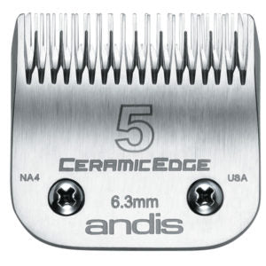 Andis -  CeramicEdge Steel Metal Size 5 Dog Hair Skip Tooth Clipper Blade