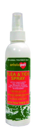 Aristopet - Extra Strength Flea and Tick Spray with Tea Tree Oil (150ml) - PetProject.HK