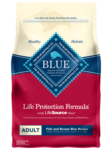BLUE - Life Protection Formula - Adult Dogs - Fish & Brown Rice - 6LB