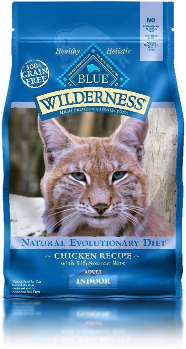 BLUE Wilderness - Adult Cats - Indoor Chicken Recipe - 5LB