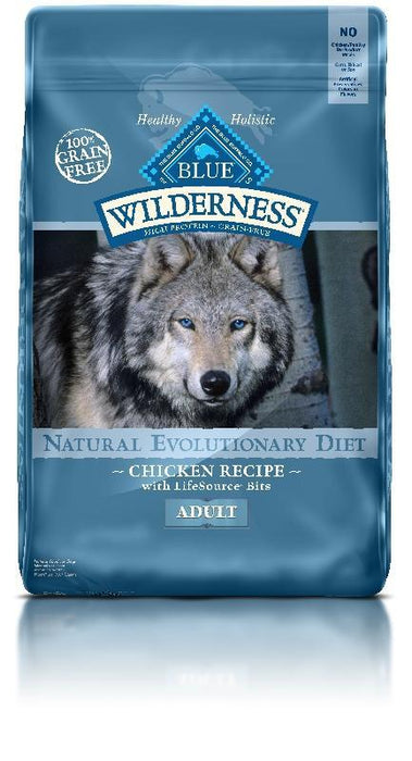 PetProject.HK: BLUE Wilderness - Adult Dogs Chicken Recipe- 24lb (Grain Free) (best by Aug, 19)