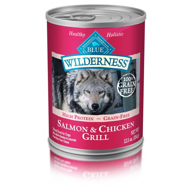 BLUE Wilderness - Dog Canned Food - Salmon & Chicken Grill - 12.5OZ