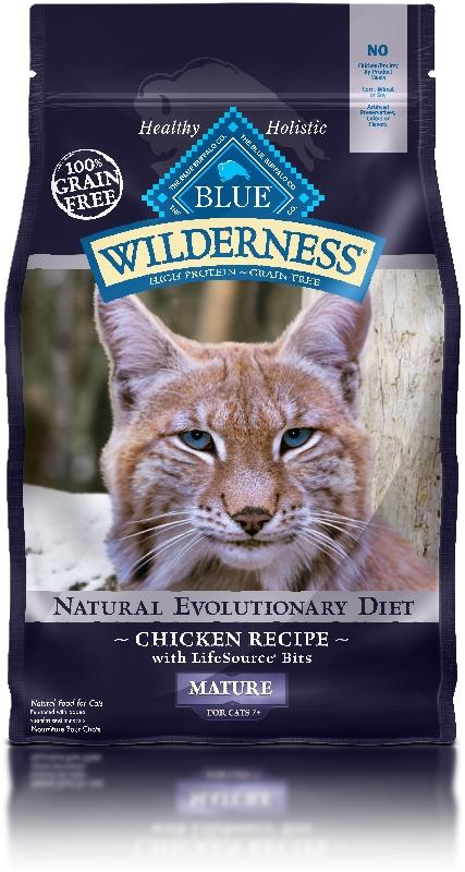 BLUE Wilderness - Mature/Senior Cats - Chicken Recipe - 5LB