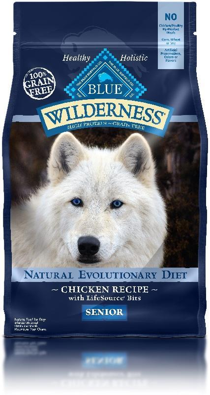 BLUE Wilderness - Senior Dogs - Chicken Recipe - 24LB