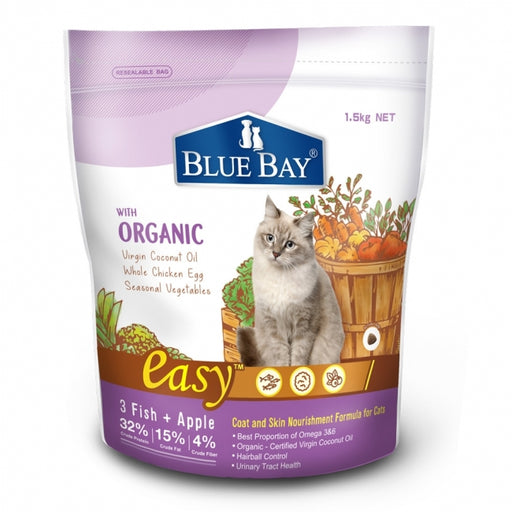 Blue Bay - Dry Cat Food - EASY Coat and Skin Nourishment Formula - 1.5KG