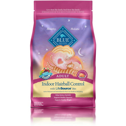 BLUE - Adult Cats - Indoor Hairball Control - Chicken & Brown Rice - 7LB