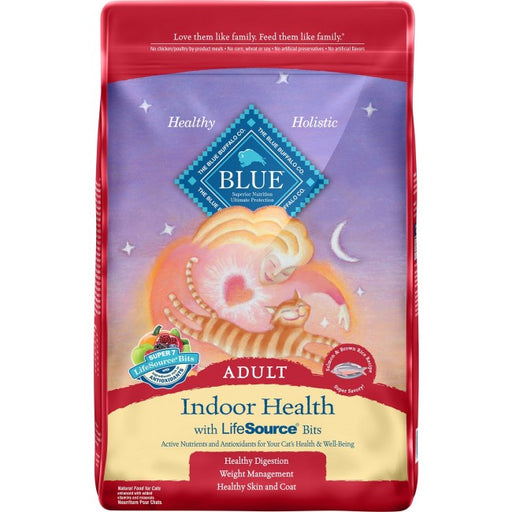 BLUE - Adult Cats - Indoor Health - Salmon & Rice - 15LB