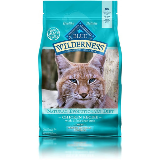 BLUE Wilderness - Adult Cats - Indoor Hairball Control - Chicken - 5LB