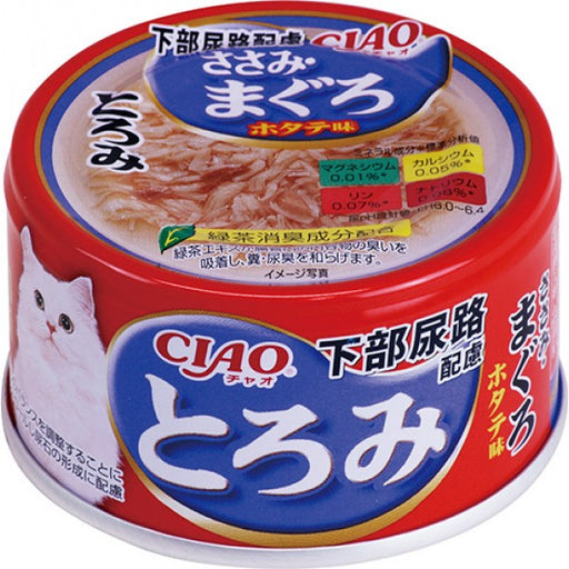 CIAO - Cat Canned Food - Urinary Care - Thick Soup - Chicken Fillet and Tuna - 80G (24 Cans)