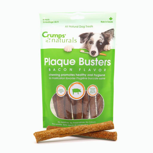 Crumps' Naturals - Plaque Busters Dog Treats - Bacon Style - 140G