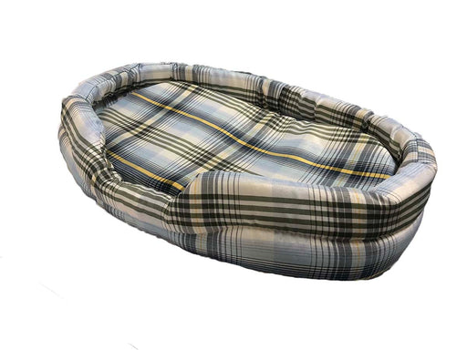 Egg-shaped Checker Pet Bed with Cushion (M)