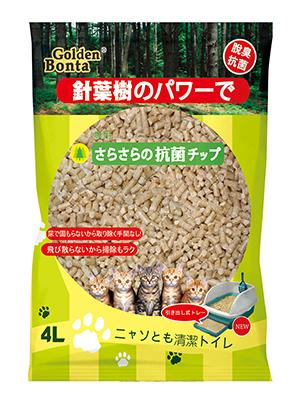 PetProject.HK: Golden Bonta - Pine Wood Cat Litter 4L