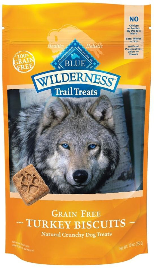 BLUE Wilderness - Grain Free Trail Treats Dog Biscuits - Turkey - 10OZ
