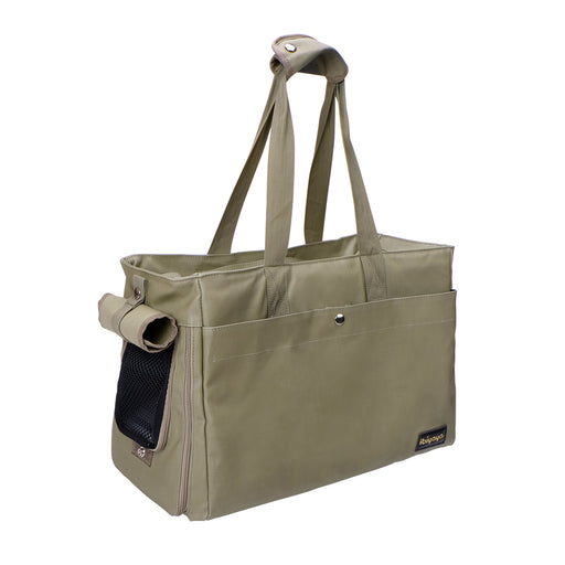 Ibiyaya - Canvas Pet Tote - Army Green - PetProject.HK