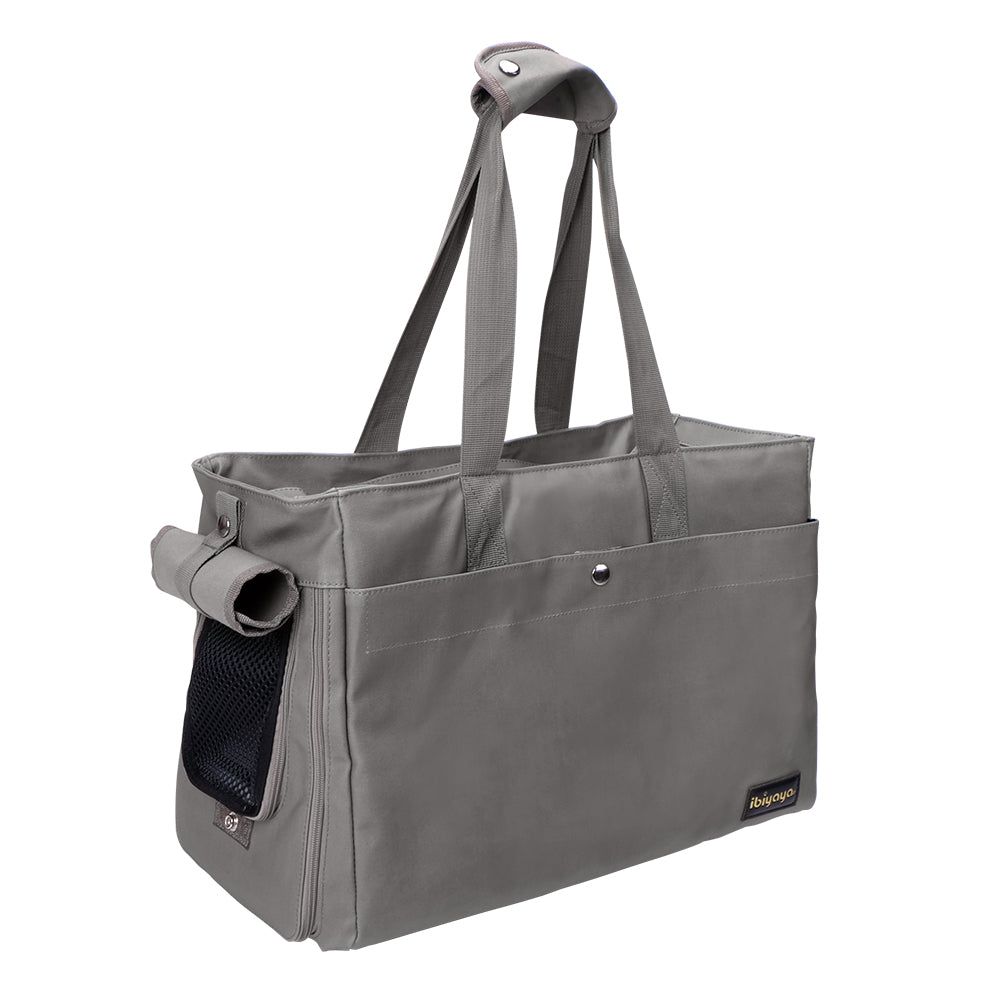 Ibiyaya - Canvas Pet Tote - Smoke Gray - PetProject.HK