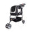Ibiyaya - Double Fun Pet Carrier Stroller - Metallic Silver - PetProject.HK