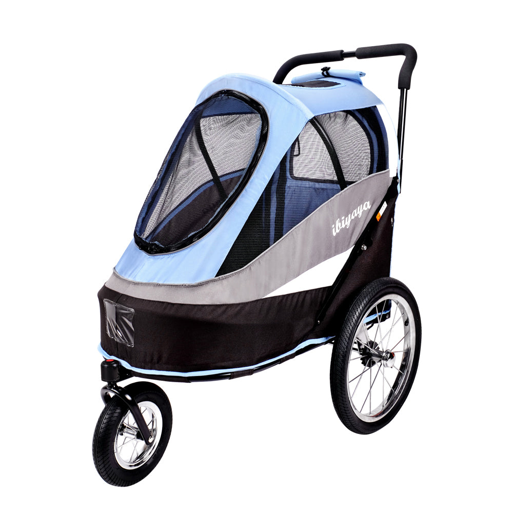 Ibiyaya - Happy Bicycle Pet Trailer/Stroller - Blue - PetProject.HK