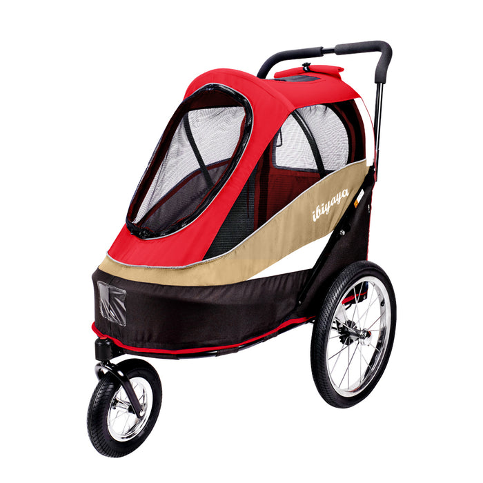 Ibiyaya - Happy Bicycle Pet Trailer/Stroller - Red - PetProject.HK