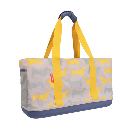 Ibiyaya - Sausage Dog Daily Tote - Yellow Mustard