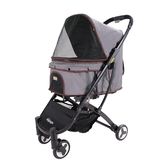 Ibiyaya - Speedy Fold Pet Buggy - Grey Jeans - PetProject.HK