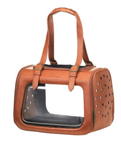 Ibiyaya - Portico Deluxe Leather Pet Transporter - Brown