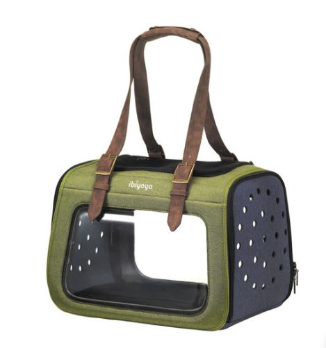 Ibiyaya - Portico Mixed-fabric Pet Transporter - Green - PetProject.HK