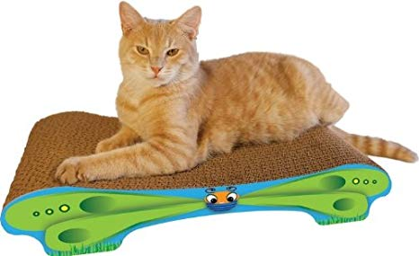 "Imperial Cat - Cute as a Bug Scratchers - Butterfly Lounge (9""D x 3.5""H x 20.5""W)"