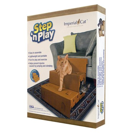 "Imperial Cat - Pet Steps & Stairs - Step 'n Play Pet Steps (20.5""D x 17.25""H x 18""W)"