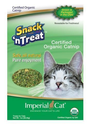 Imperial Cat - Snack 'n Treat - Certified Organic Catnip - 1OZ