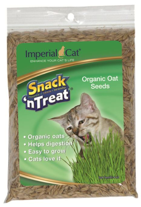 Imperial Cat - Snack 'n Treat - Organic Oat Seeds - 4OZ