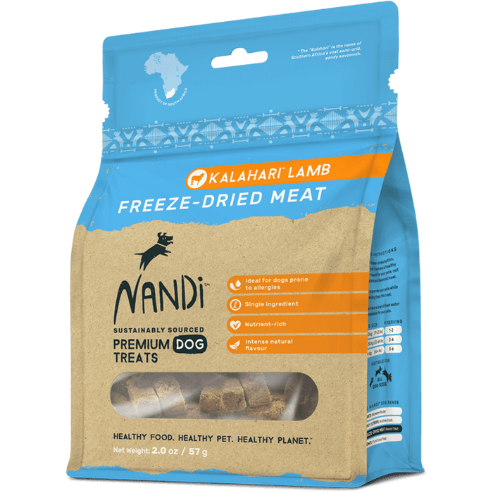 Nandi - Freeze-Dried Treats - Kalahari Lamb - 57G