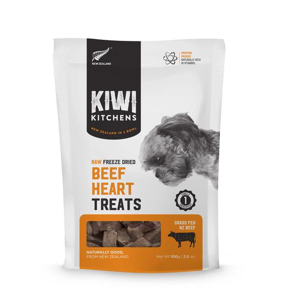 Kiwi Kitchens - Freeze-Dried Dog Treats - Beef Heart - 100G - PetProject.HK