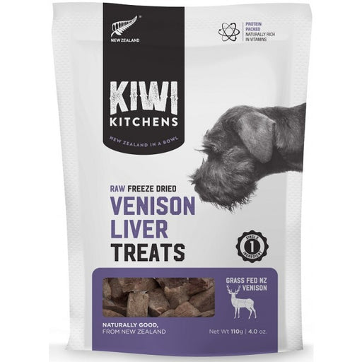 Kiwi Kitchens - Freeze-Dried Dog Treats - Venison Liver - 110G