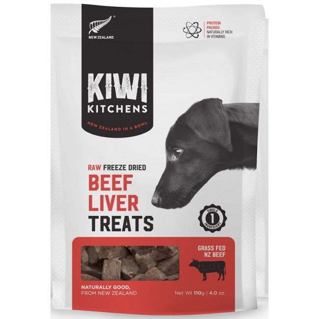 Kiwi Kitchens - Freeze-Dried Dog Treats - Beef Liver - 110G