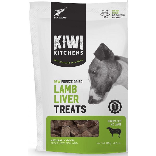 Kiwi Kitchens - Freeze-Dried Dog Treats - Lamb Liver - 110G