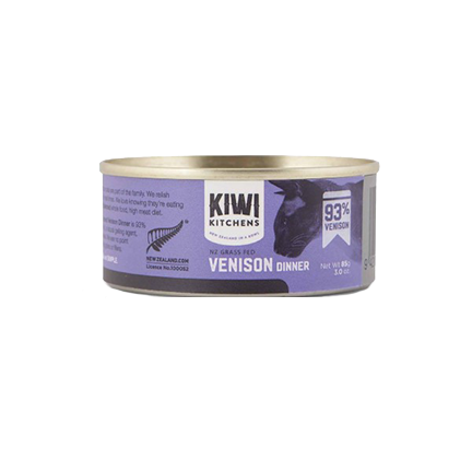 Kiwi Kitchens - Cat Canned Food - NZ Venison - 85G