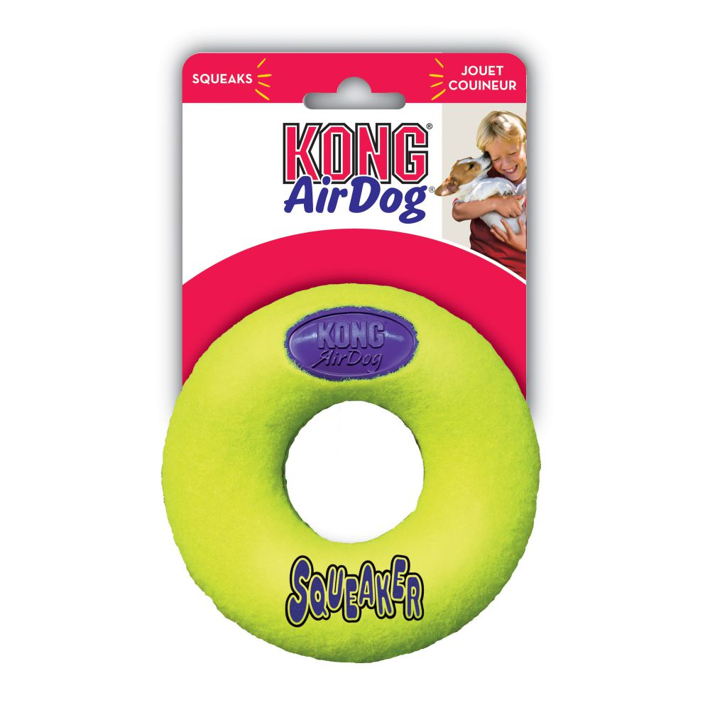Kong - Air Squeaker Donut - Medium - PetProject.HK
