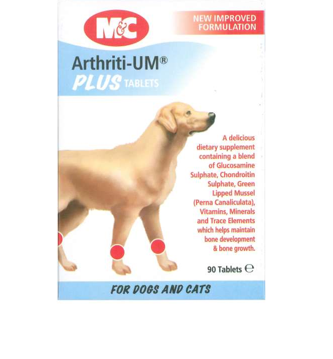 PetProject.HK: Mark & Chappell - Arhtriti-UM Plus Bone Supplement (90 tabs)
