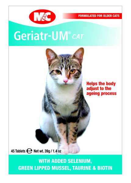 PetProject.HK: Mark & Chappell - Geriatr-UM with Ginseng Supplement for Cats (45 tabs)