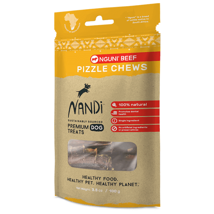 Nandi - Dog Chew Treats - Nguni Beef Pizzle - 100G