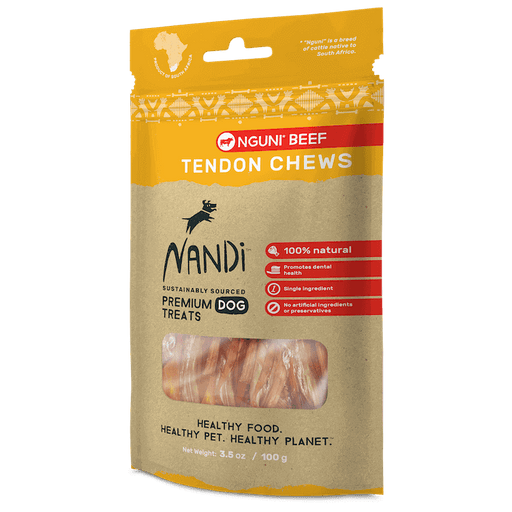 Nandi - Dog Chew Treats - Nguni Beef Tendon - 100G - PetProject.HK